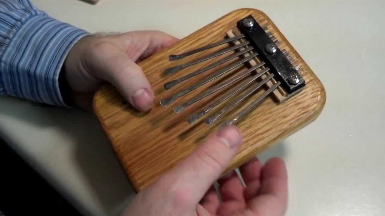 Making a thumb piano