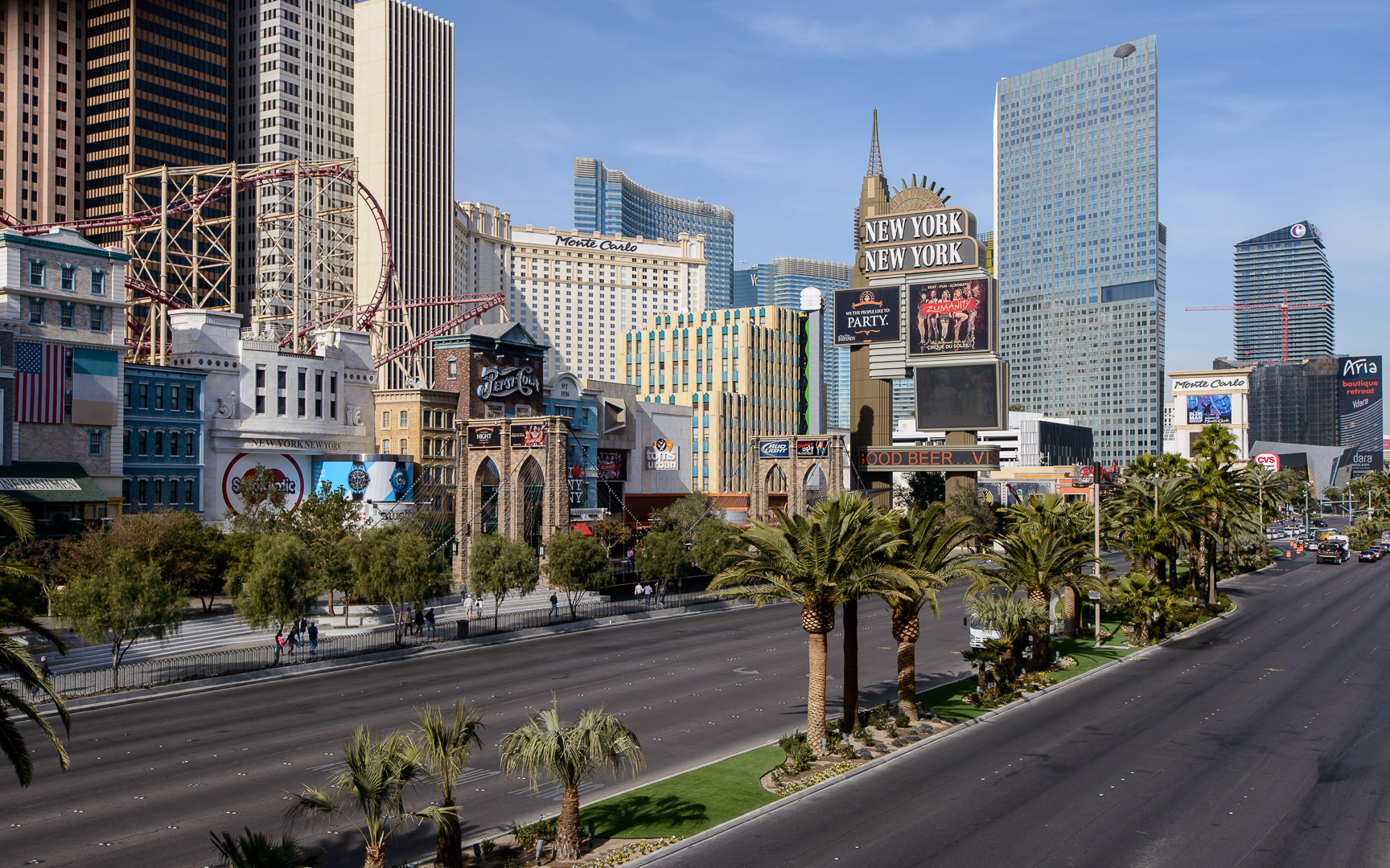 Las vegas strip closing