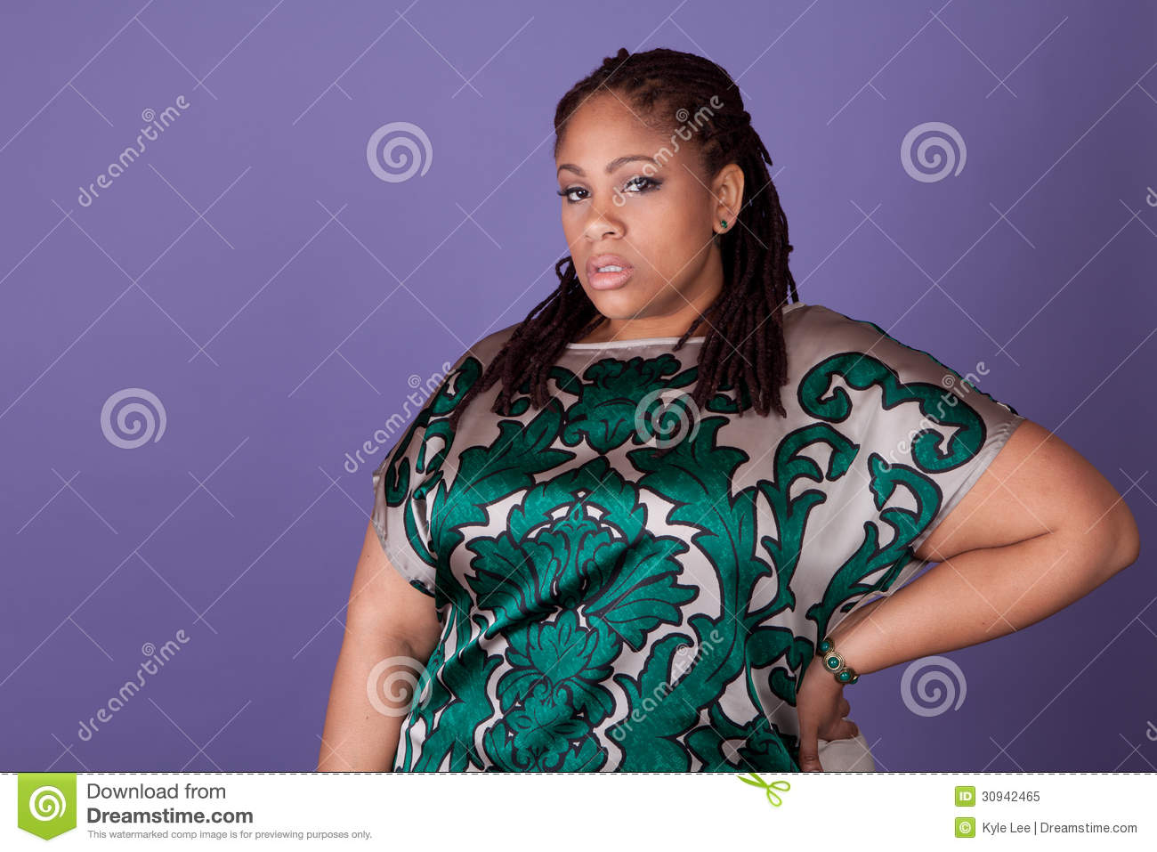 Beautiful plus size black women