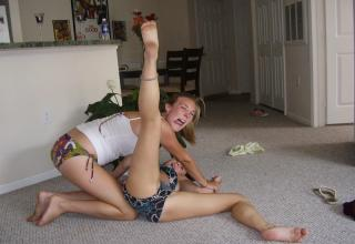 Girl legs spread wide open