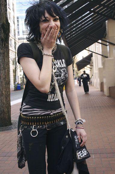 Punk rock goth teen girls