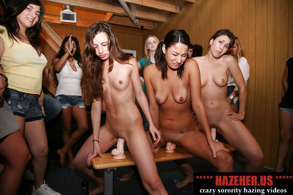 Sorority and hazing and naked