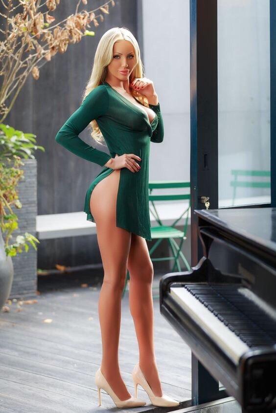 Sexy girl high heels big tits