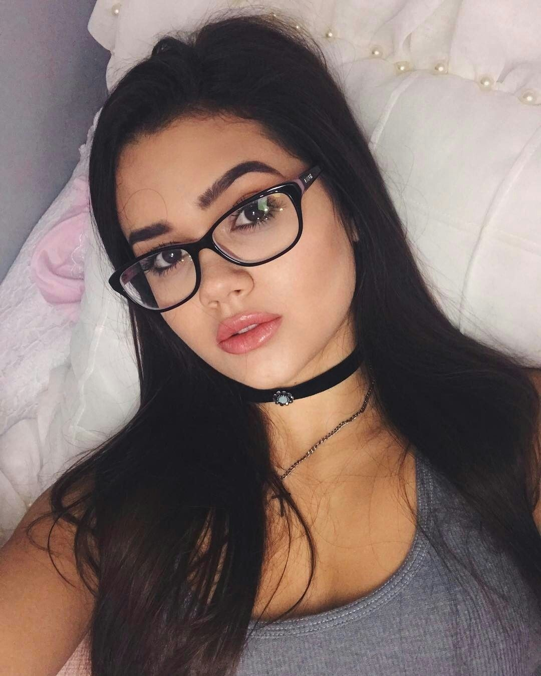 Pretty girls with glasses