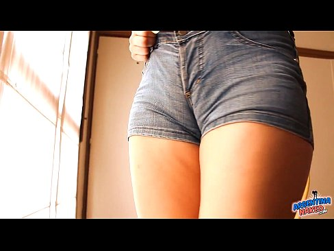 Tight asses girls in short jeans