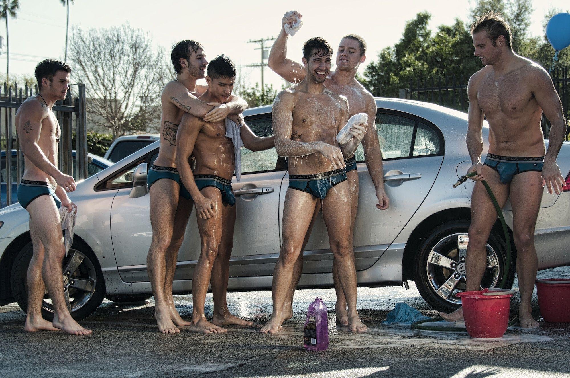 Andrew christian freshman car wash