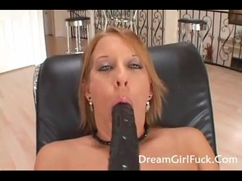 Blonde sucking big black cock