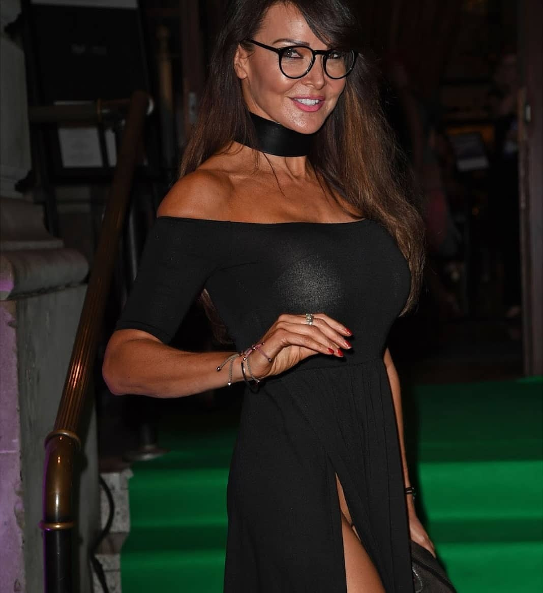 Milf black dress no panties