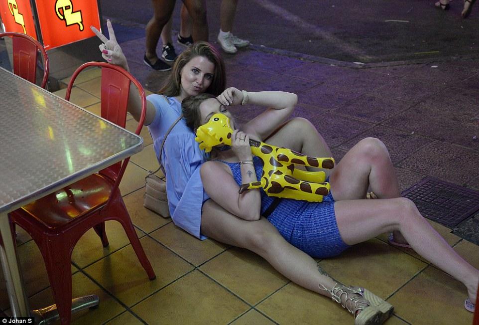 Naked drunk british tourists