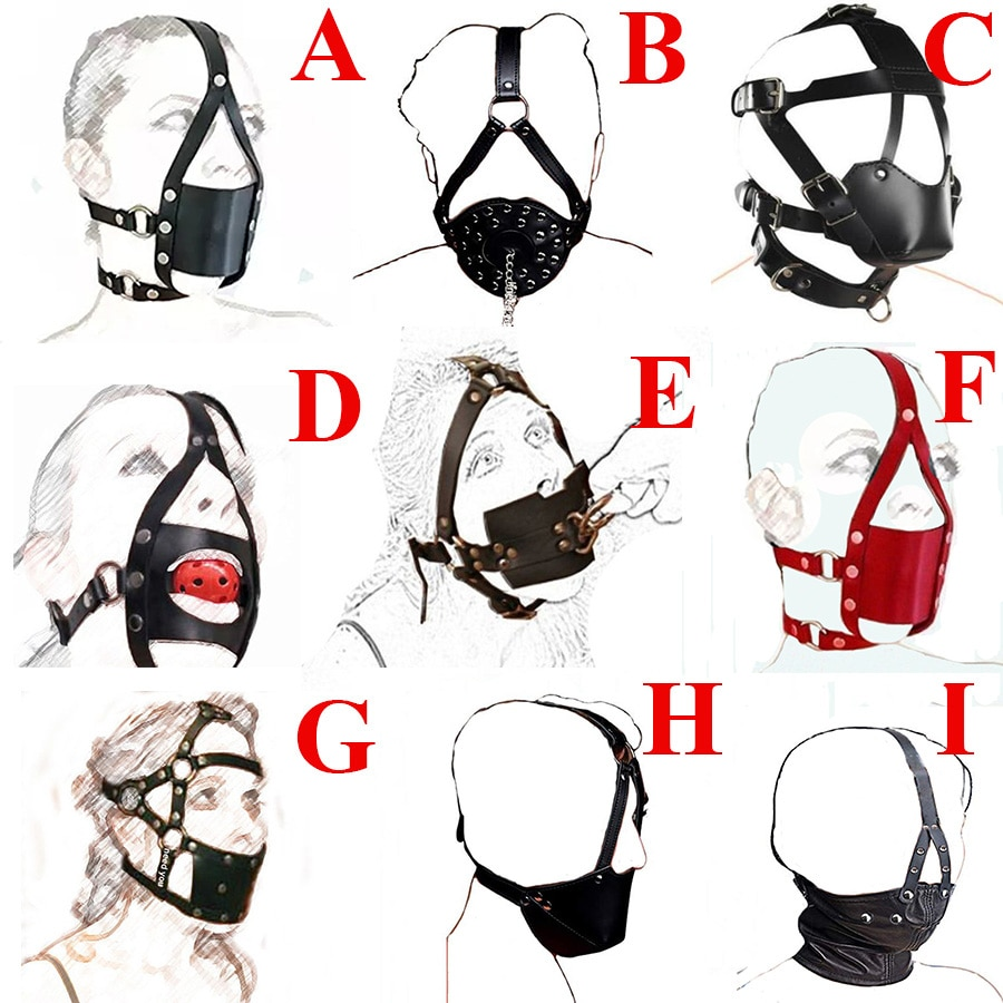 Leather strap ball gag