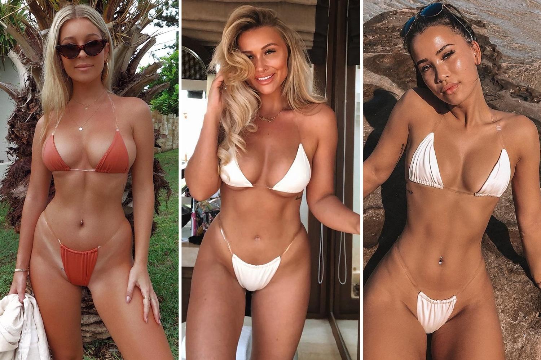 Micro bikini skinny girl