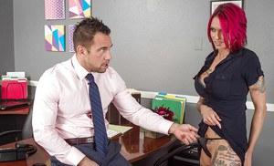Office secretary upskirt sex
