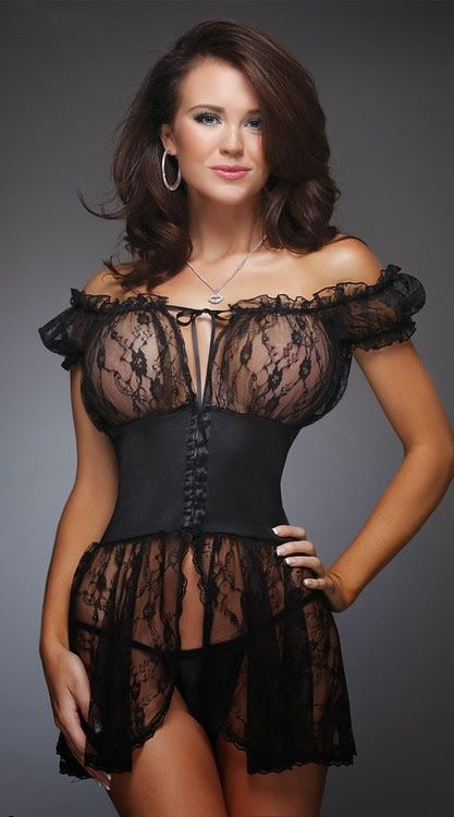 Milf see through lace lingerie