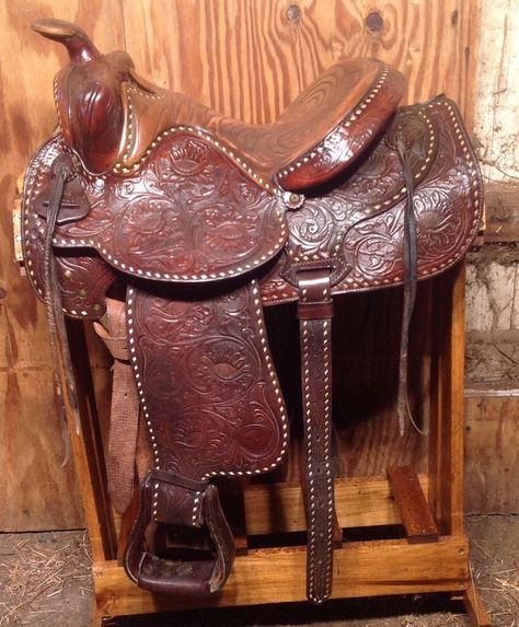 Vintage hereford brand saddles