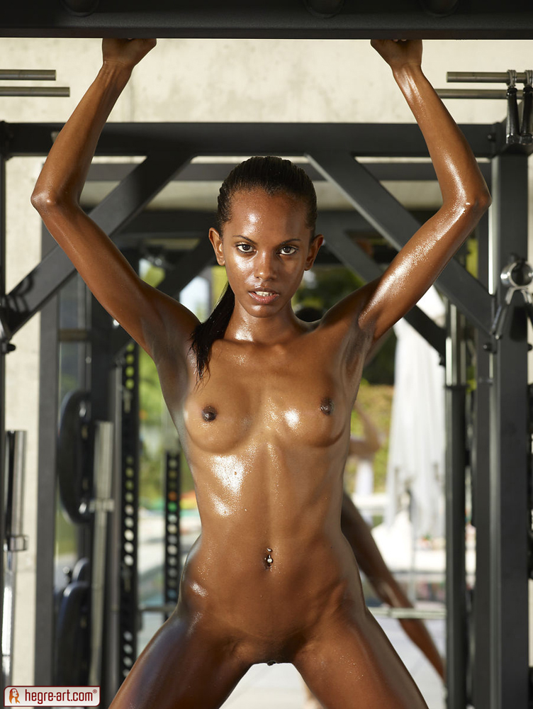 Nude black girl oiled porn