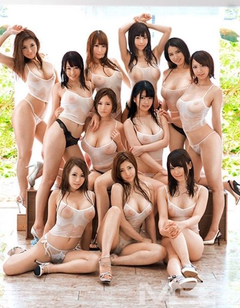 Naked asian women group
