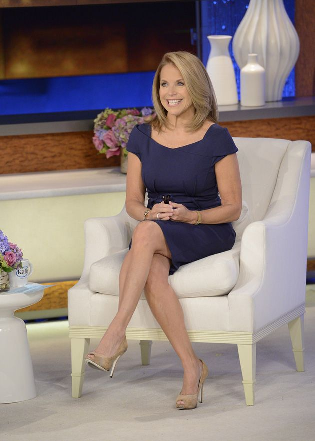 Katie couric wearing pantyhose