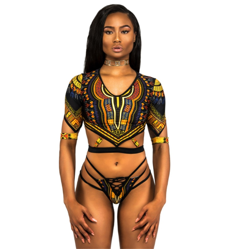 Sexy black woman and panther