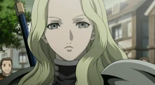 Mature blonde woman anime