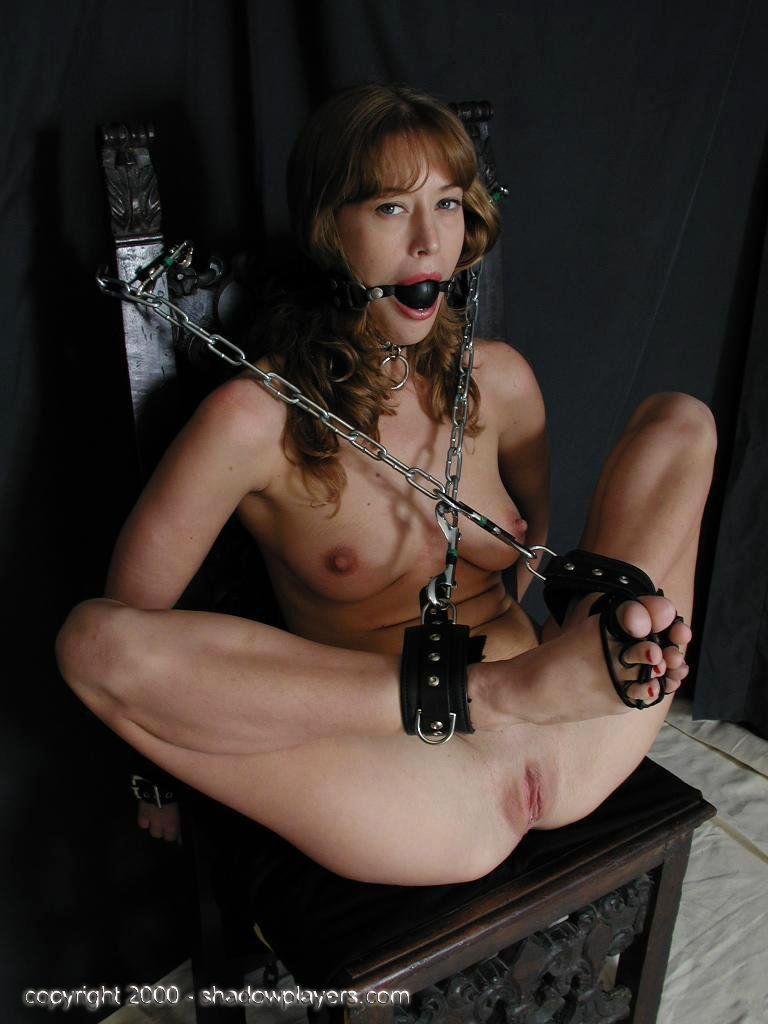 Naked girl in bondage