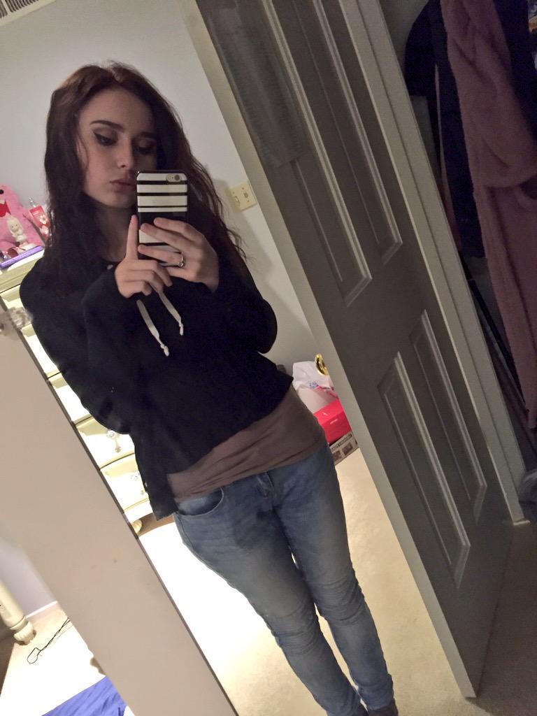 Mirror self emo girl