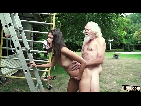 Hot sex with an old man