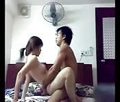 Chinese couple porn homemade