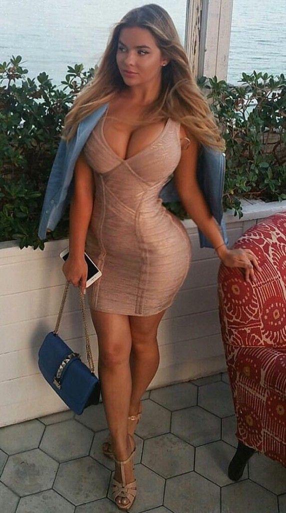 Busty women in short mini skirts