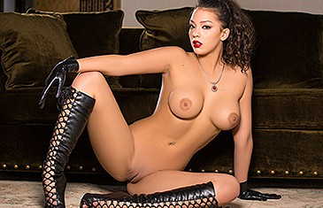 Thigh high boots nude playboy