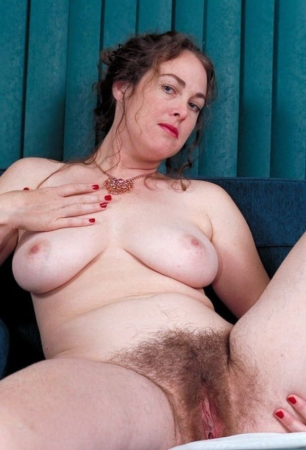 Mature big tits hairy pussy spread