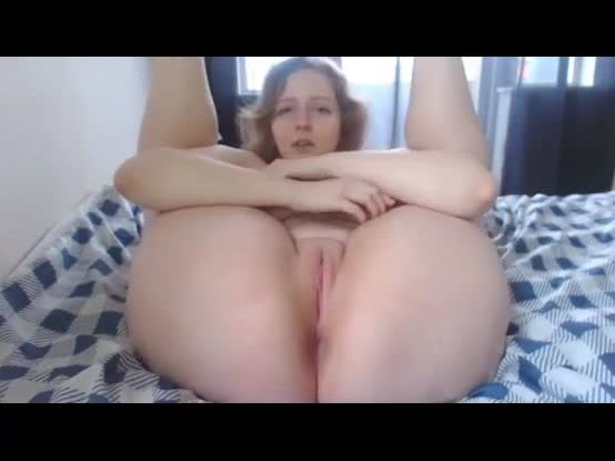 With her wet pussy