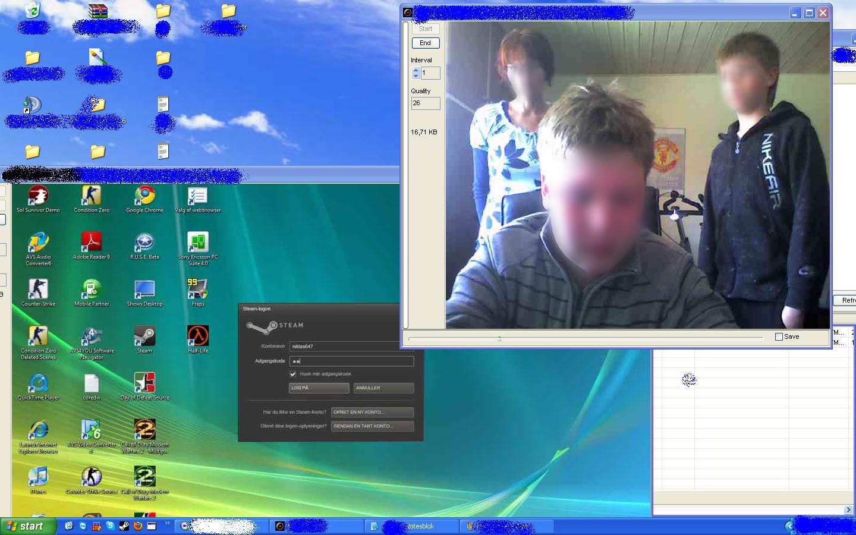 Remotely turn on someones webcam