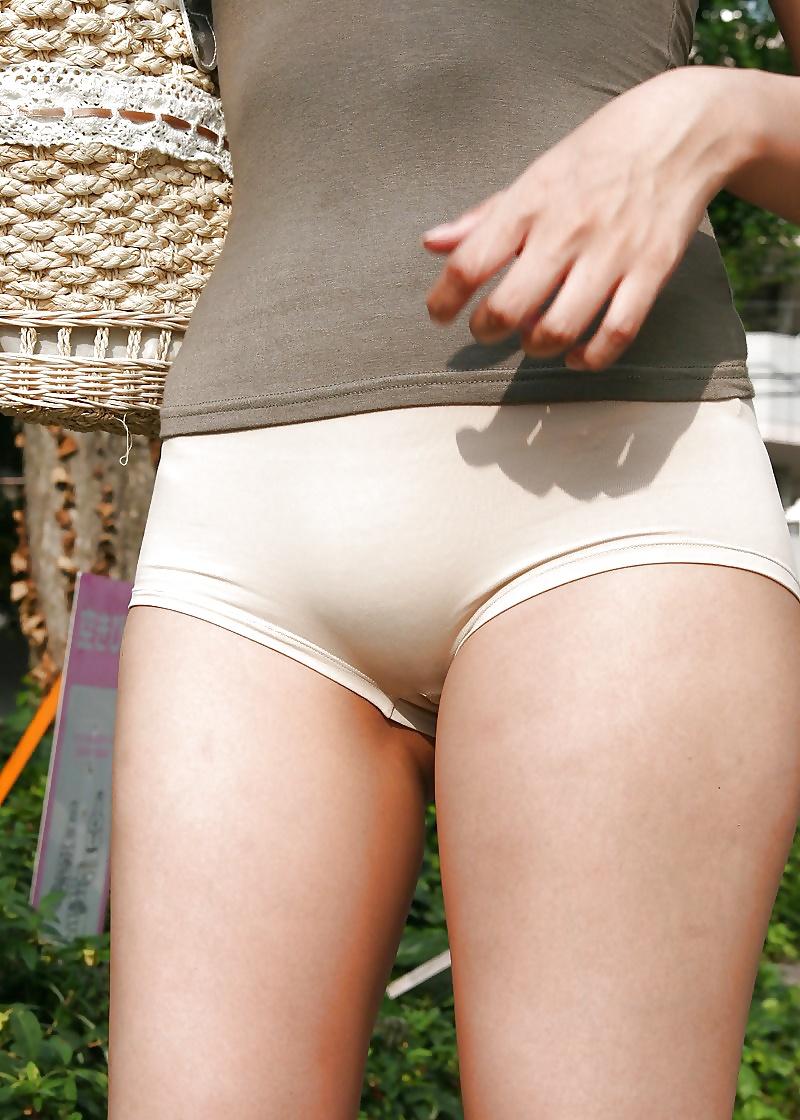 Asian pussy mound panties