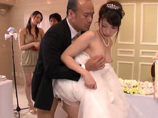 Bride fucked hard at wedding