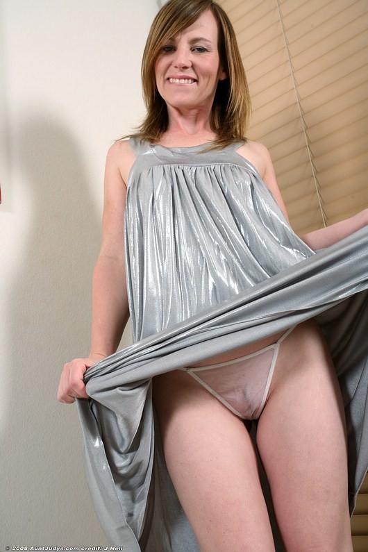 Skinny milf in sheer panty mature nude