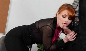 Redhead lesbians love anal