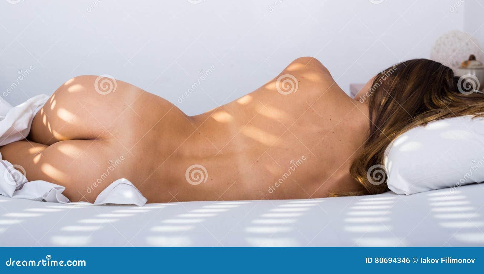 Women nude in bed sleeping