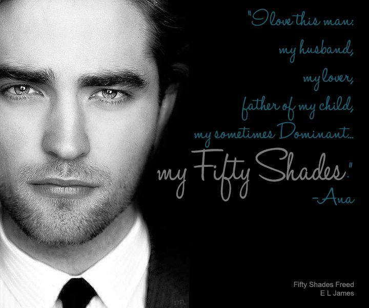 Robert pattinson as christian grey
