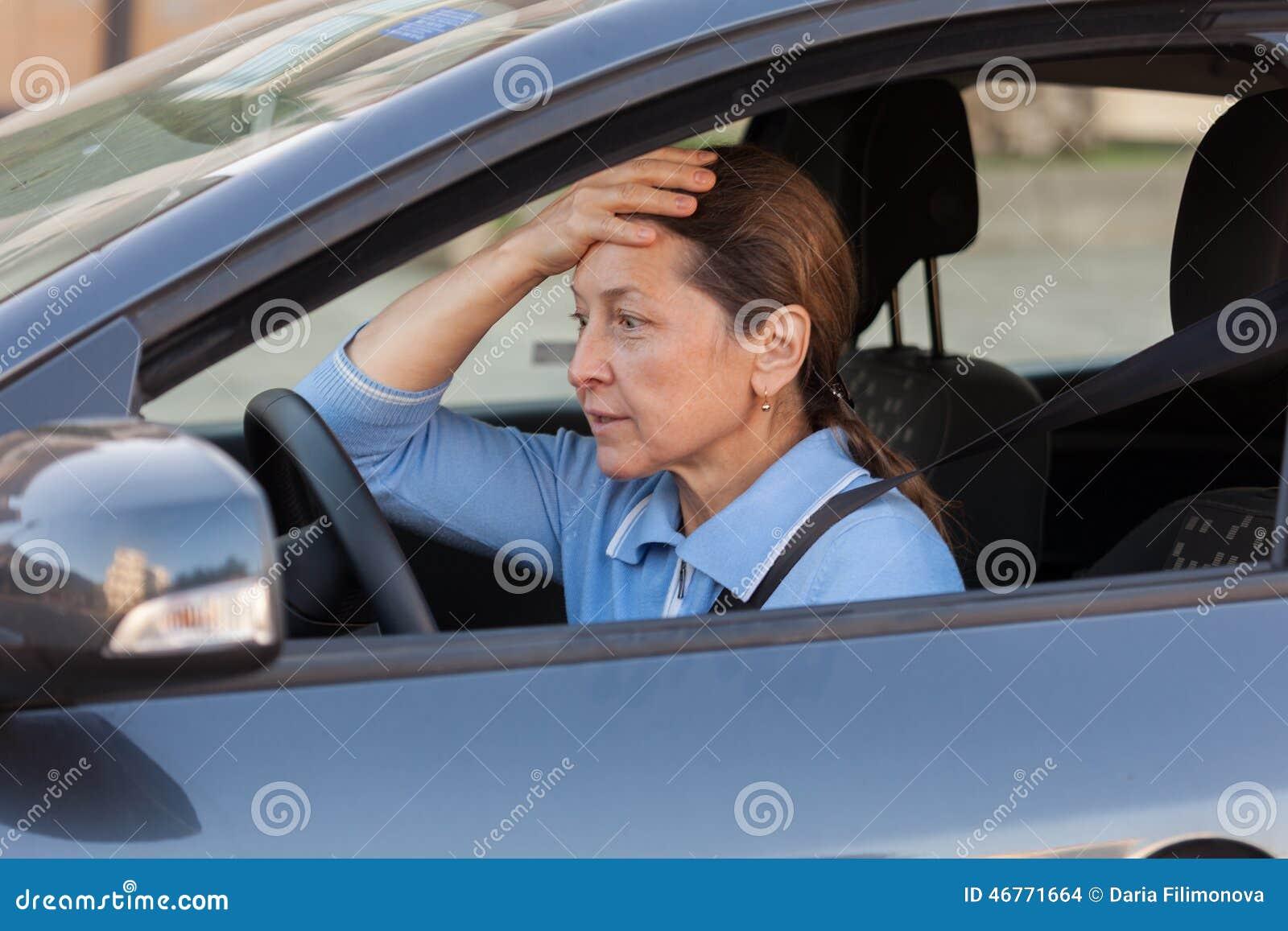 In the car mature