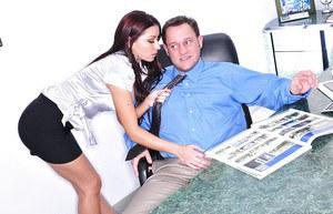 Hot office girls kissing